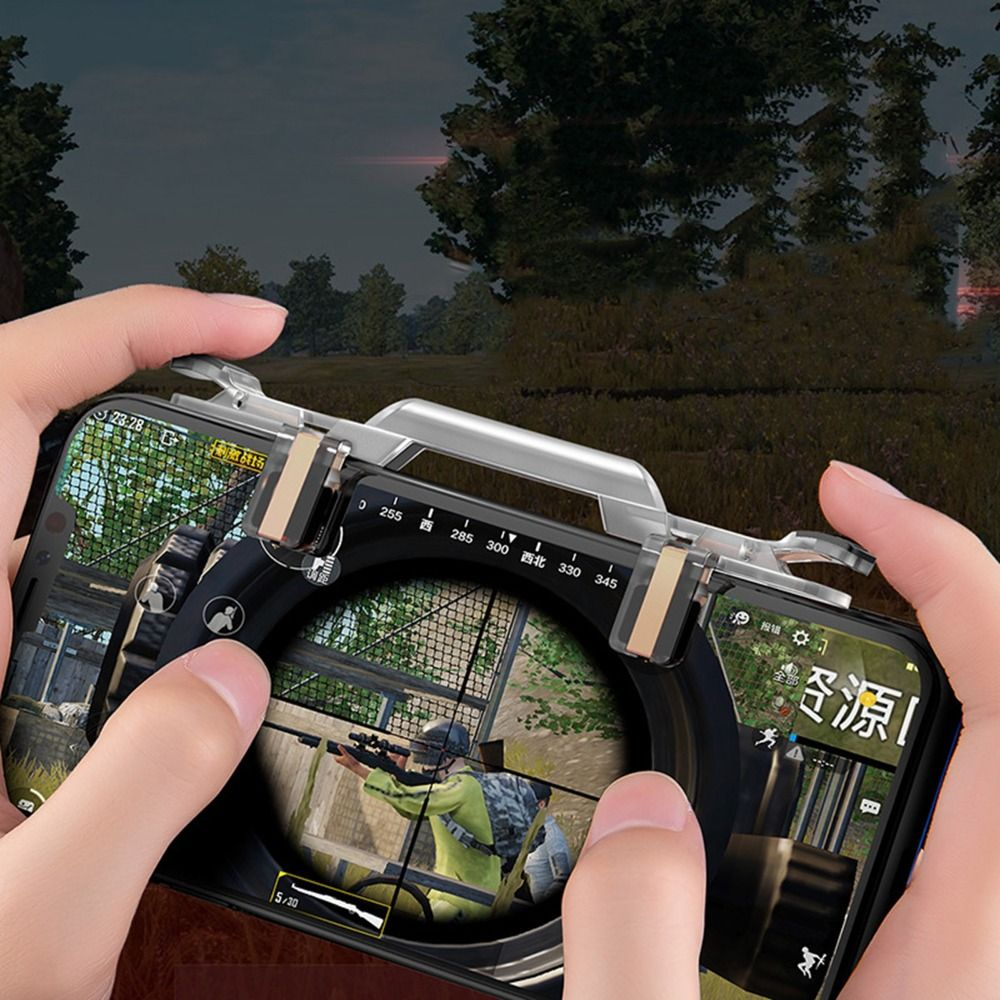 L1 R1 Shooter Controller For PUBG IOS Android Mobile Phone Game Fire Button Aim Key Gaming Trigger for Rules of Survival