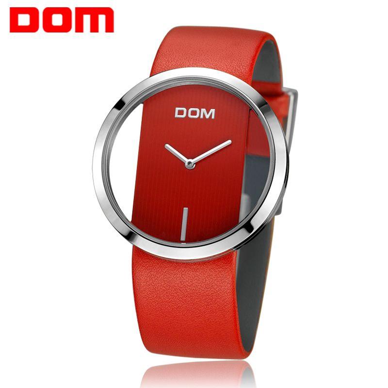 Women Watch DOM Brand luxury Fashion Casual Unique Lady Wrist watches leather quartz waterproof Stylish relogio feminino 205