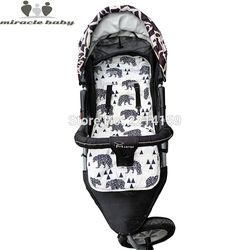 2017 moda bebé cojín del pañal nuevo barato cochecito de bebé cojín algodón del cochecito para el bebé Cochecitos cochecito Accesorios