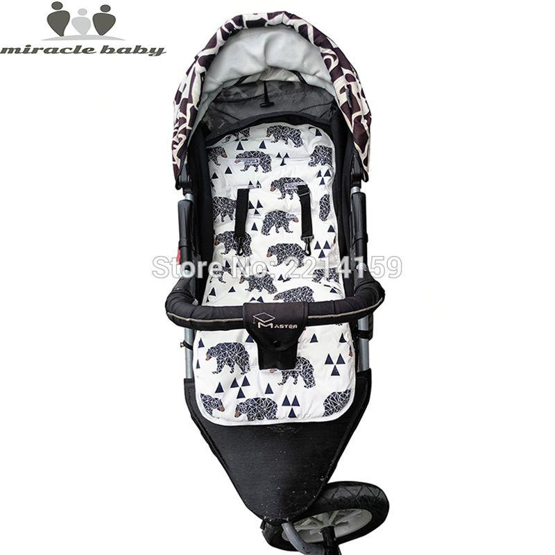 2019 mode bébé couche Pad nouveau pas cher bébé poussette coussin coton poussette Pad siège Pad pour bébé landaus poussette accessoires