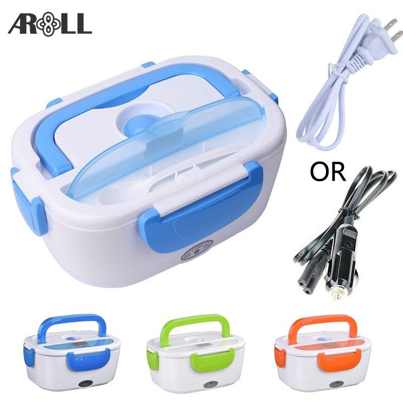 Boîte à Lunch électrique Portable pour voiture 12 V 110 V 220 V boîte à Lunch électrique récipient chauffé pour garder le chauffage plus chaud des aliments