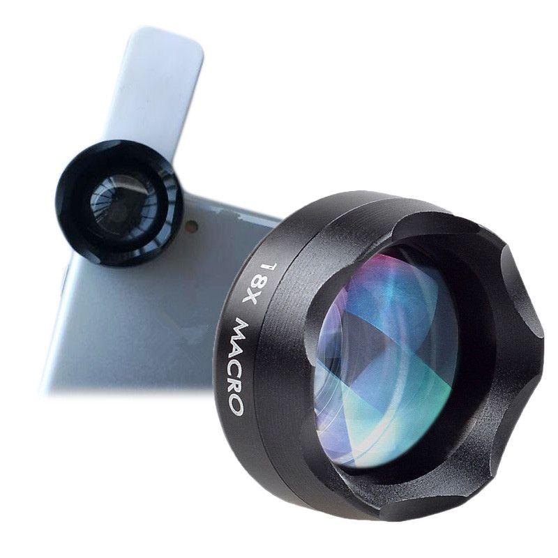 Orsda 18X Macro Objectif pour Gros Plan Photos Universel Clip sur la Cellule Téléphone Caméra Lentilles pour iPhone 8 7 6 S huawei Samsung Smartphone