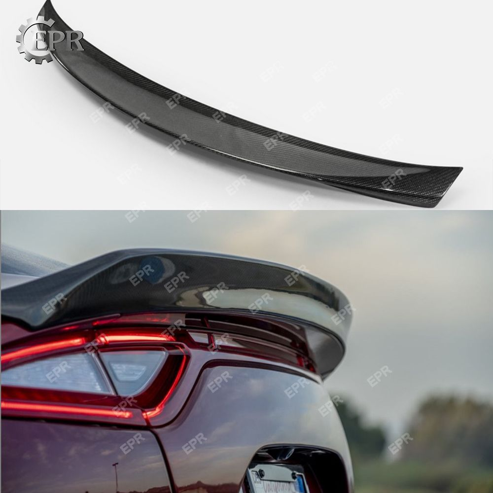Für Kia Stinger Typ G Carbon Fiber Hinten Stamm Spoiler Flügel Lip Hinzufügen auf Körper Kit Stinger Tuning Trim Carbon flügel Für Kia