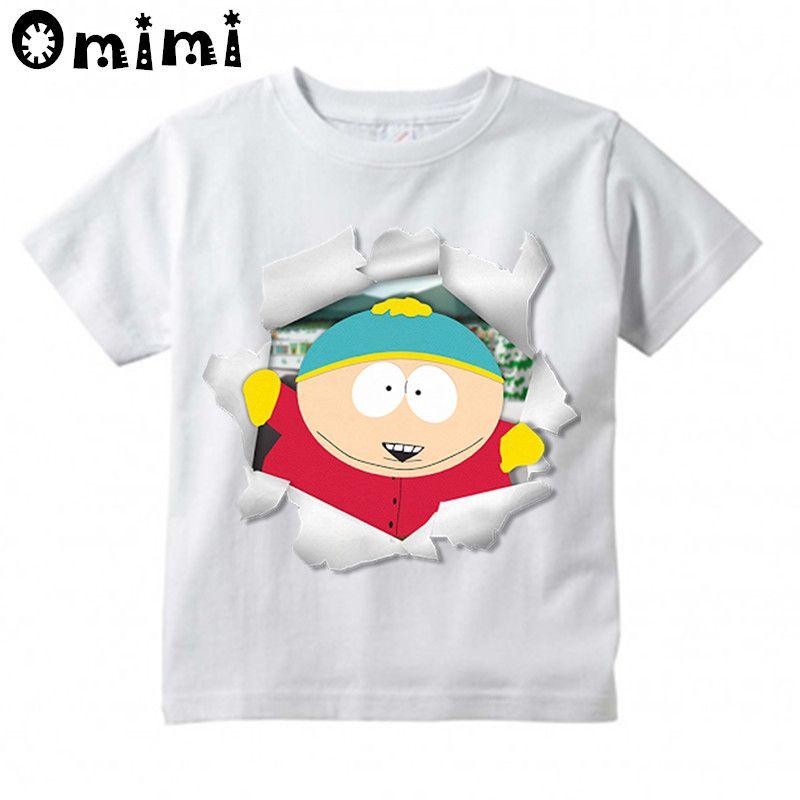Kids South Park Stan Marsh/Kyle/Cartman/Kenny Cartoon Design T Shirt Boys/Girls Casual Tops Children's Funny T-Shirt