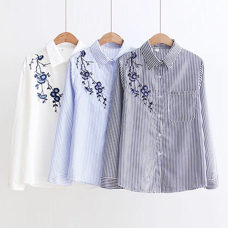Women Blouses Stripe Shirts 2018 Autumn New Women Casual Tops Long Sleeve Loose Ladies Shirt Elegant Blouse Tops Clothing Blusas