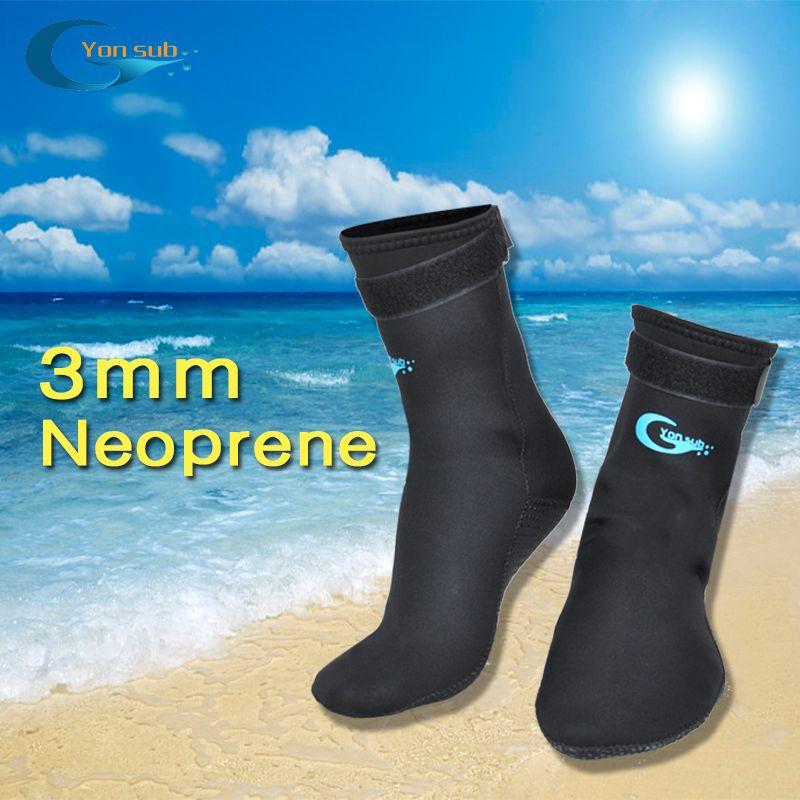 Chaussettes de plongée avec tuba en néoprène pour adultes de 3 MM pour éviter les rayures chaussettes de bain antidérapantes chaussettes de plongée noires pour vêtements d'aileron/plage