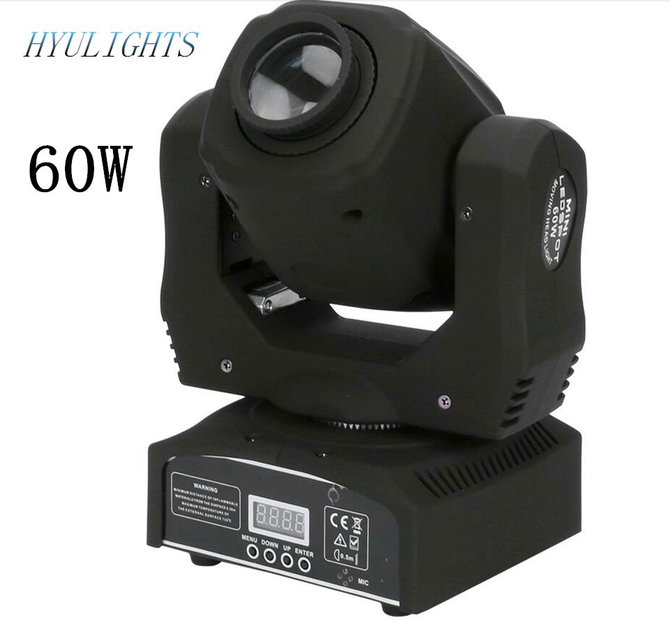 1pieces/lot 60W LED Spot Moving Head Light/USA Luminums 60W LED DJ Spot Light gobo moving heads lights