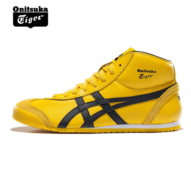 Onitsuka Tiger MEXICO 66 Men's Anti-Slippery Shoes Unisex Shoes Lightweight Breathable Women High Upper Sneakers THL328-0490