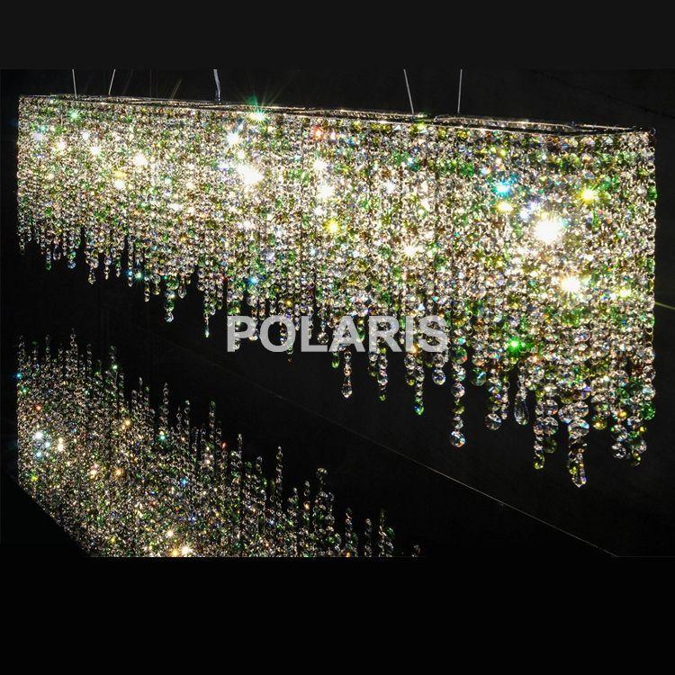 Zeitgenössische Moderne Luxus LED K9 Kristall-kronleuchter Beleuchtung Hängende Lichter/Lampen für Villa Esszimmer und Hotel Dekoration