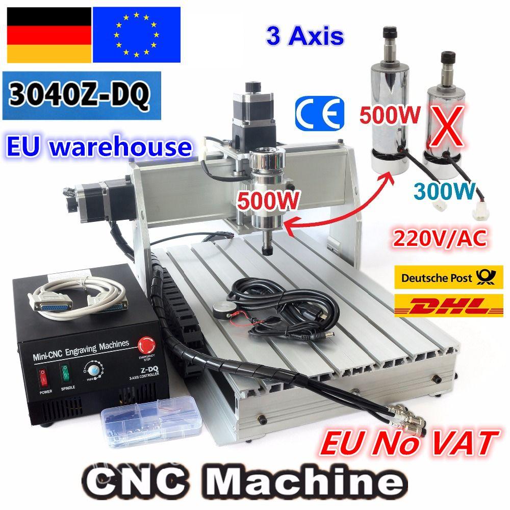 EU kostenloser MEHRWERTSTEUER 3 Achse 3040Z-DQ 500 W DC Spindel CNC ROUTER GRAVEUR/GRAVUR Fräsen Schneiden BOHREN Maschine Kugelumlaufspindel 220 V/110 V