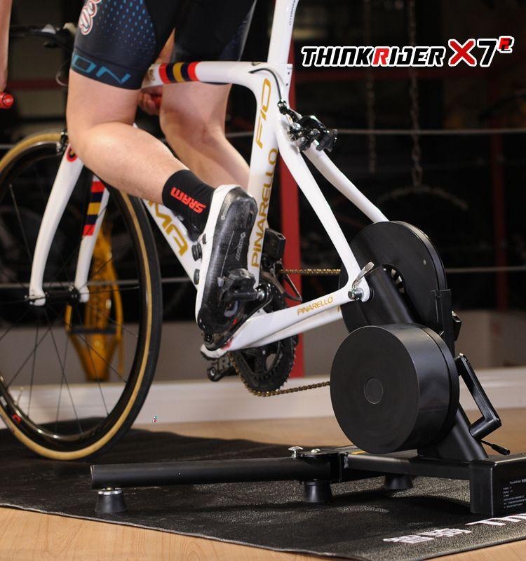 Thinkrider X7 MTB Fahrrad Straße Fahrrad Smart Bike Trainer Für Carbon Faser Rahmen Design Integrierte Power Meter Bike Trainer Plattform