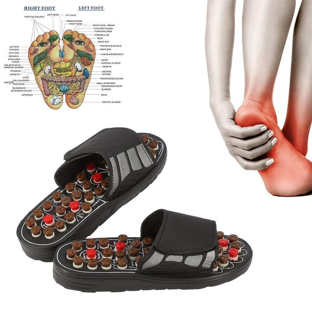 Pantoufles de Massage des pieds thérapie d'acupuncture masseur chaussures pour le pied Acupoint activation réflexologie soins des pieds Massageador sandale