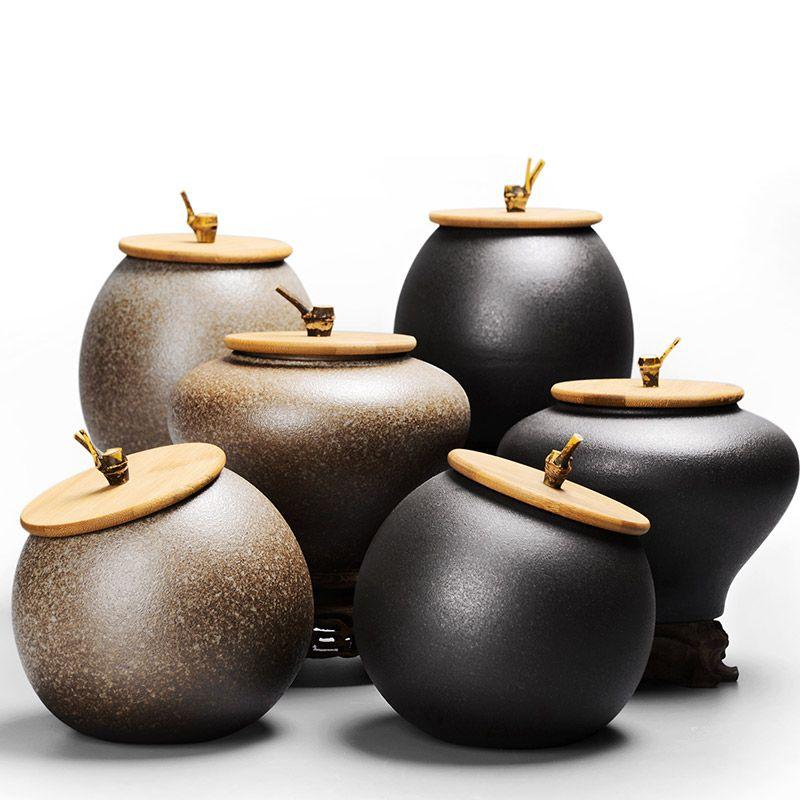 2018 Sealed Canister Jar Home Kitchen Coffee Sugar Tea Storage Bottles Jars Kitchen Accessories Ceramic sugar cans 6 styles