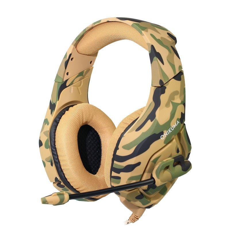 ONIKUMA K1 Camouflage Deep Bass Gaming Headset Noise cancelling Kopfhörer Stereo Subwoofer Kopfhörer für PC Laptop Mit Mic