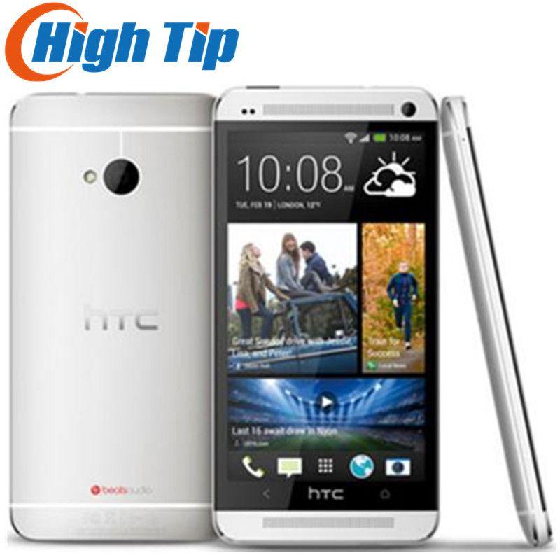 100% Débloqué Original HTC ONE M7 Android Smartphone 32 gb ROM 4.7 pouces GPS 3g Double caméra 8MP WIFI livraison gratuite Rénové