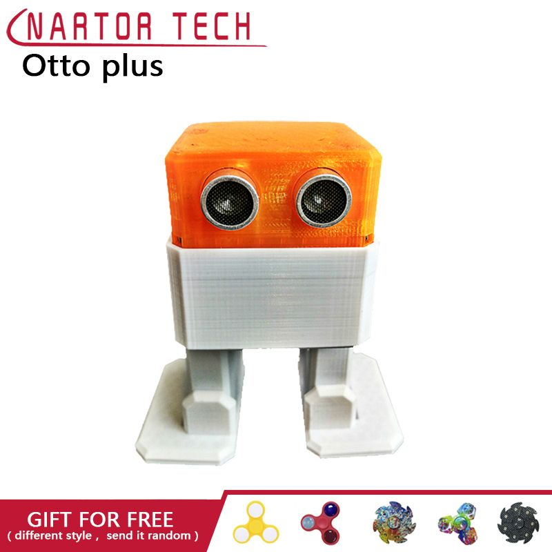 OTTO Plus otto DIY + Arduino ROBOT Open Source Maker Obstacle Avoidance Bluetooth Control 3d Print