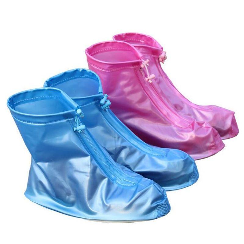 1 Pair Reusable Rain Shoes Women/men/kids Children Thicken Waterproof Boots Rain Slip-resistant Overshoes Shoes Protect