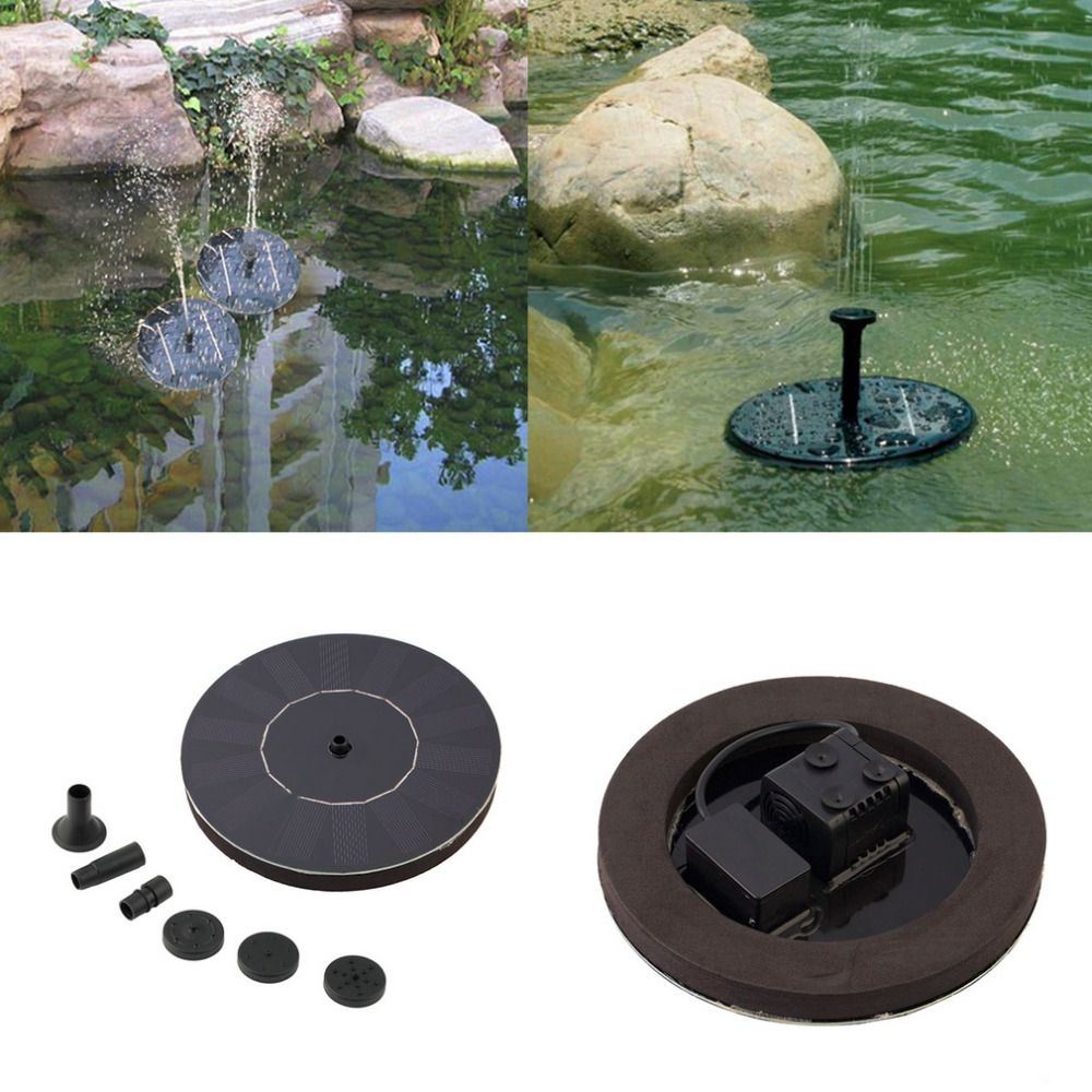 2017 New Arrival Solar Powered Water Pump Garden Fountain Floating Panel Watering Pond Kit for Waterfalls Water Display