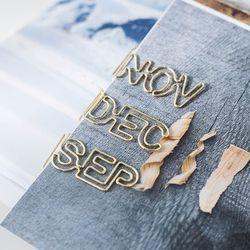 Oro mes forma Clips de papel lindo Kawaii marcador Memo Clip para la Oficina fuentes de escuela papelería