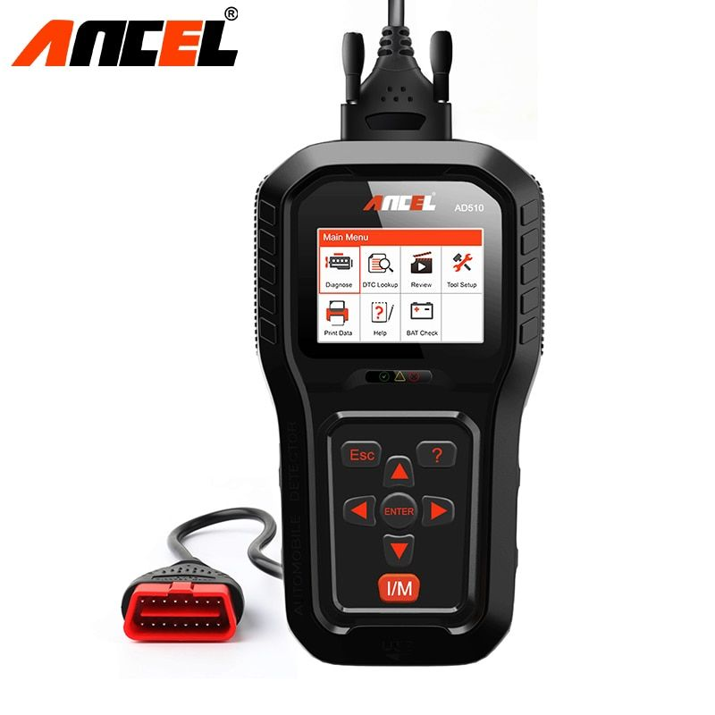 Ancel AD510 Pro OBD2 Scanner For ODB2 Car Auto Diagnostic Tool Read Code Clear Engine Error Codes OBD 2 Scanner