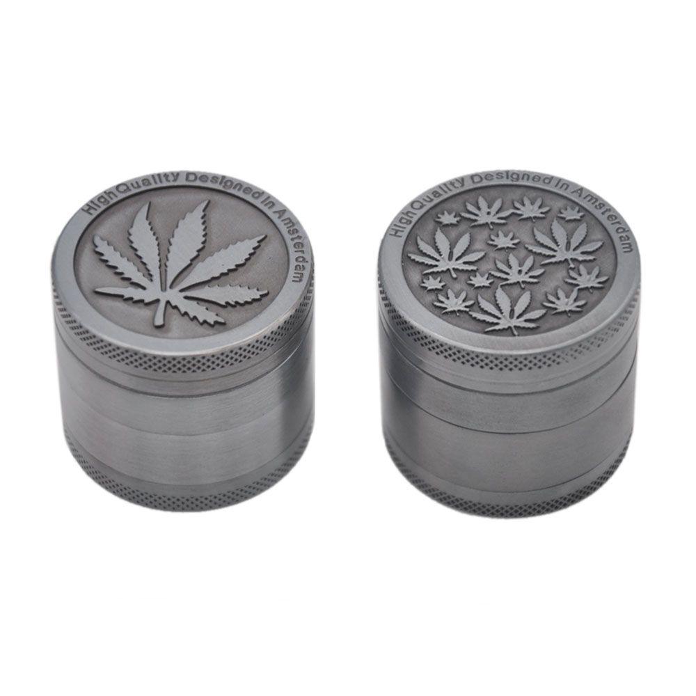 Broyeur d'herbe de COURNOT AMSTERDAM 40 MM 4 pièces en alliage de Zinc avec des dents de diamant broyeur à tabac broyeur d'épice d'herbe