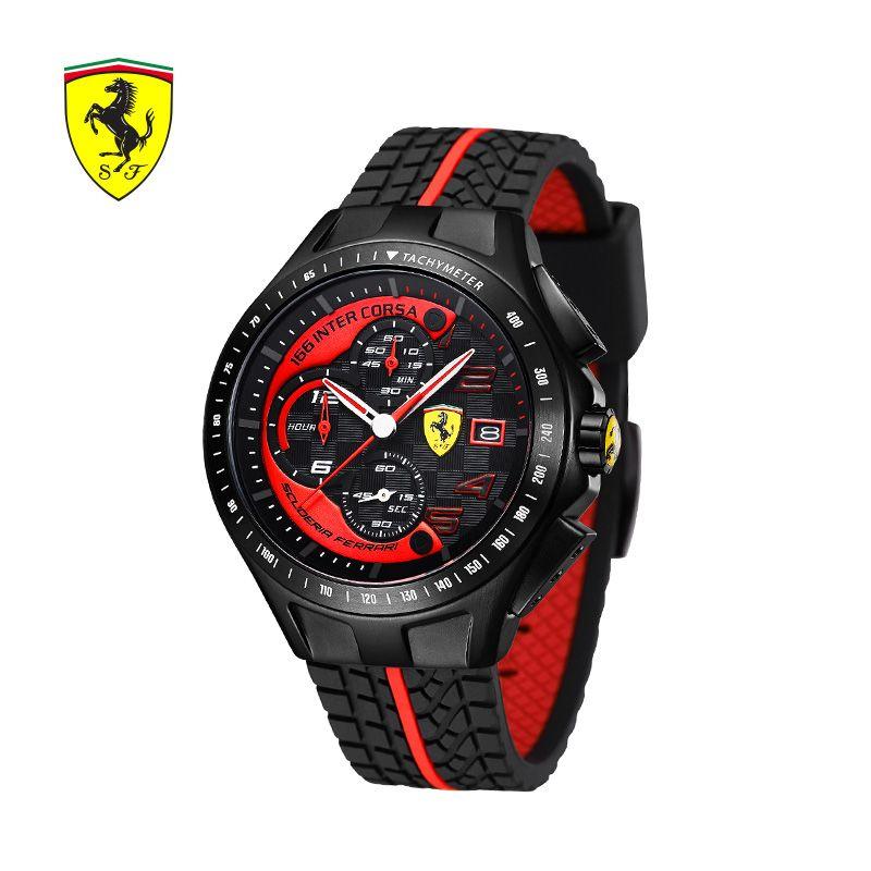 SCUDERIA FERRARI Brands Men Watches Sports Fashion Casual Outdoor Watches Trend Waterproof Quartz Watch Erkek Saatler 0830077