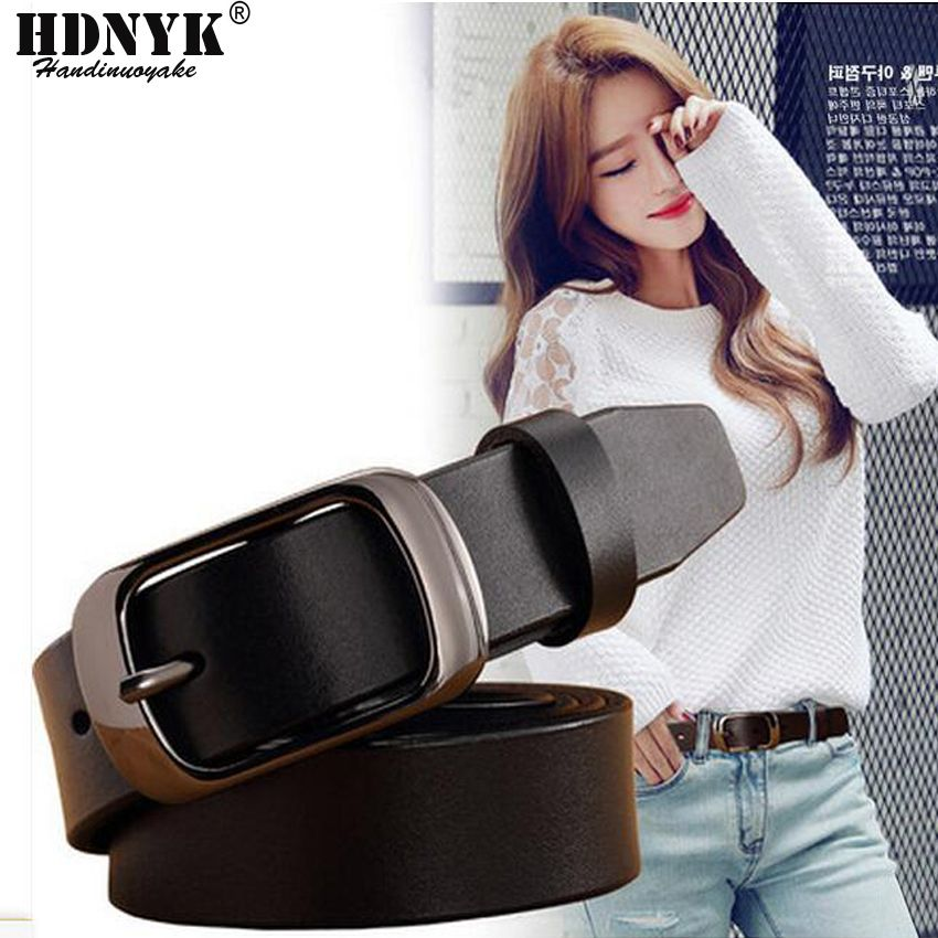 2017 New Fashion Wide Genuine Leather Belt Woman Vintage Cow Skin Belts Women Top Quality Strap Female for Jeans