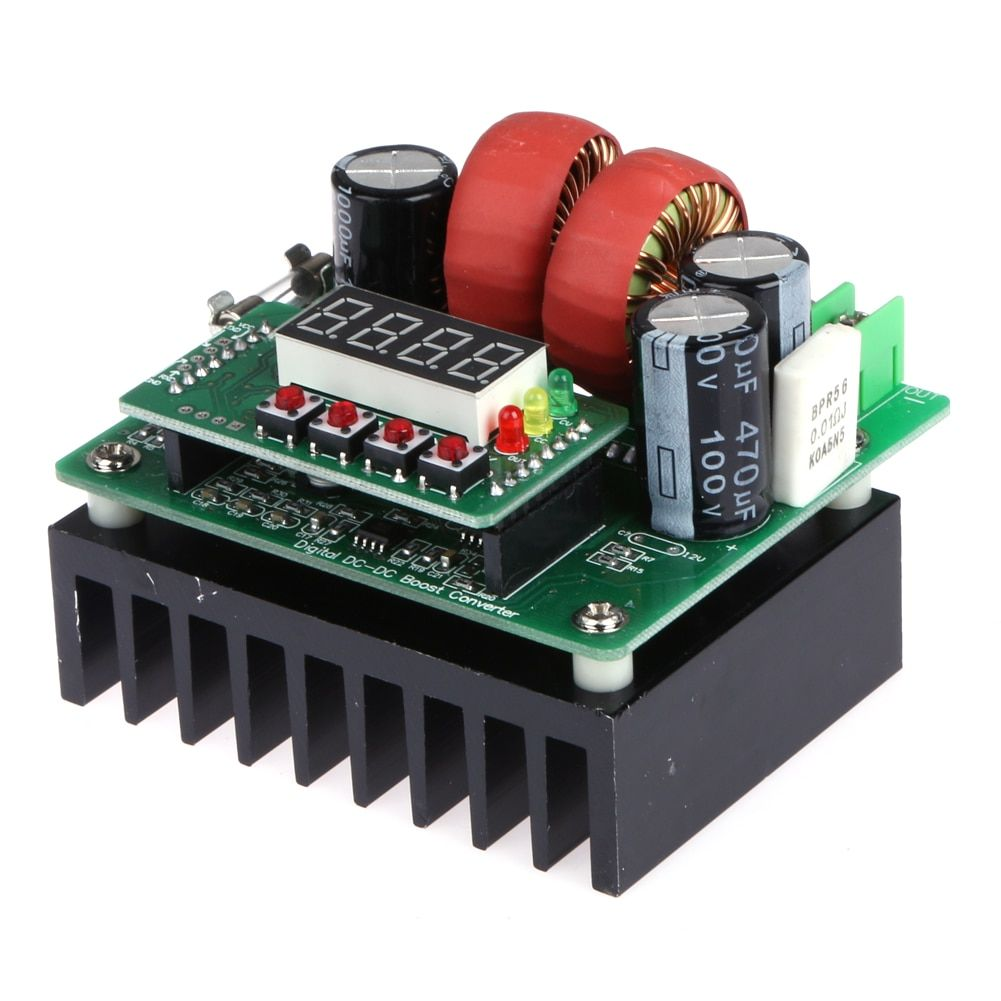 400W 15A Numerical Control Template LED Digital Microprocessor Controlled Constant Voltage Current Adjustable DC Boost Converter