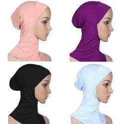 Vente 15 Couleurs Pleine Couverture Femmes Coton Musulman Hijab Islamique Underscarf Châles Et Hijabs Confortable