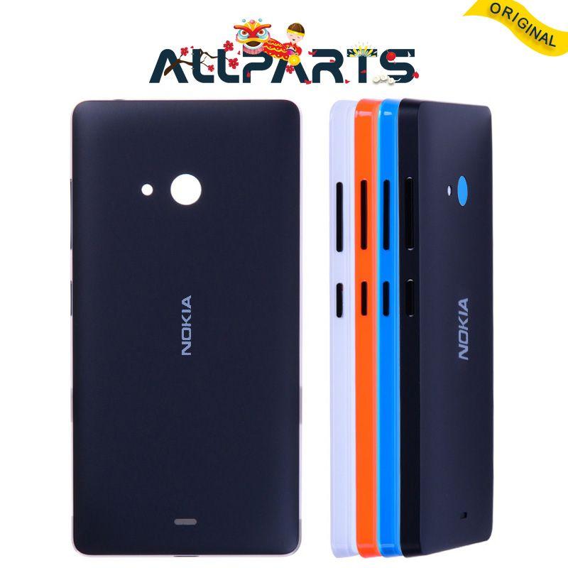 Garantie Logement Pour Nokia Microsoft Lumia 540 Cas de Couverture Arrière batterie Porte Arrière avec Adhésif Pour Nokia Lumia 540 Batterie couverture