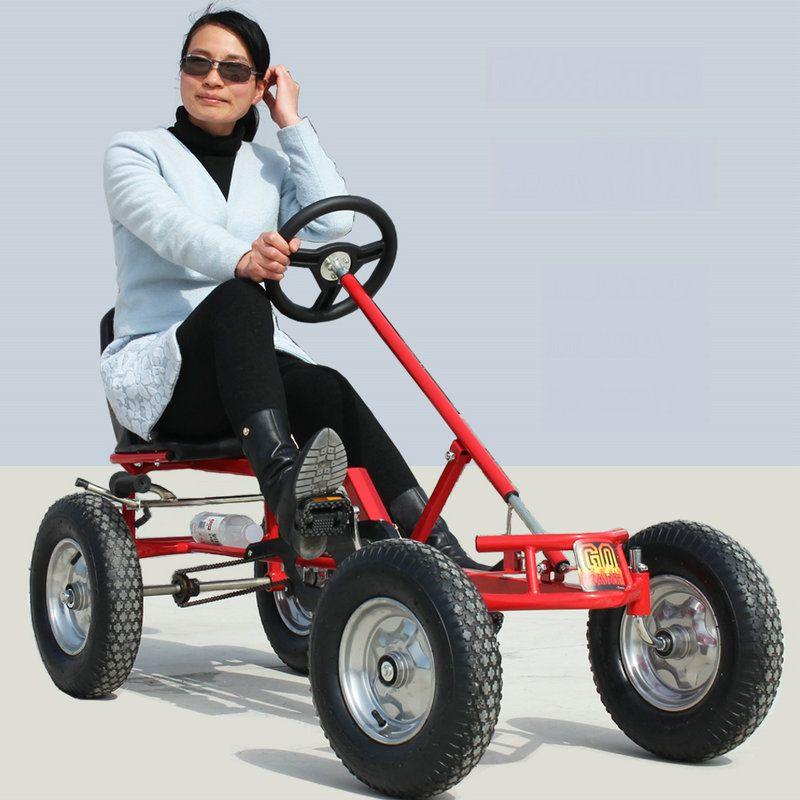16inch wheel adult go-karts, hand brake adult karts, can load 100KG