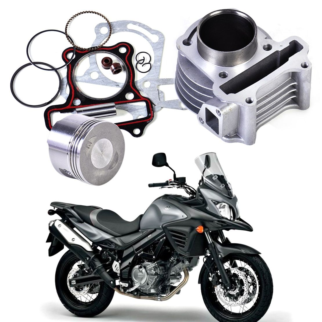 DWCX New 47mm Big Bore Kit Cylinder Piston Rings fit for GY6 50cc to 80cc 4 Stroke Scooter Moped ATV with 139QMB 139QMA engine