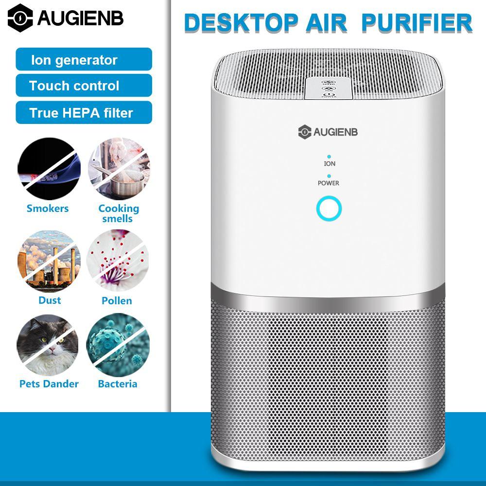 AUGIENB Air Purifier ionisator Echter Hepa-Filter, Geruch Allergien Eliminator für Raucher, Staub, Form, formaldehyd Hause Haustiere Reiniger