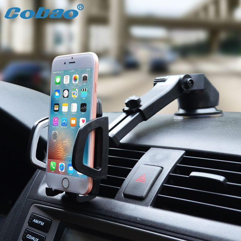 Cobao support de téléphone portable pour voiture Stand Tableau de Bord Pare-Brise Universel 360 Réglable Téléphone support pour voiture pour iPhone 7 6 5 4 Huawei