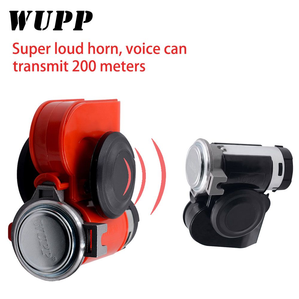 WUPP  Car Motorcycle Truck  Horns 12 V Super Loud Truck Yacht Boat Compact Dual Tone Electric Pump Air Loud Motorbike Horn