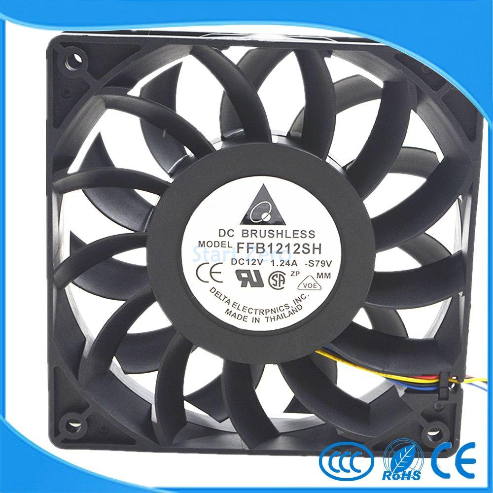 Delta violence High speed large air volume fan FFB1212SH 12025 12V 1.24A 12CM 120X120X25mmcooling fan
