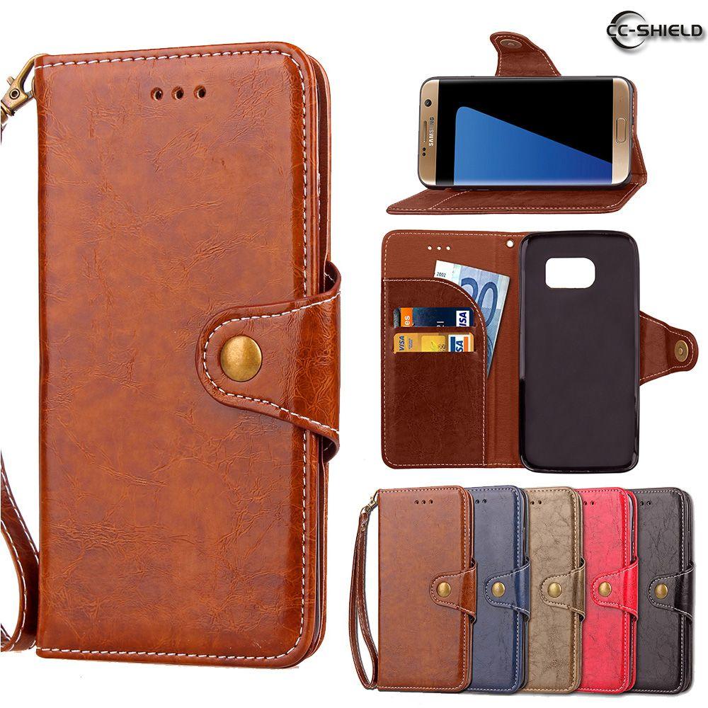 Flip Case for Samsung Galaxy S7 Edge S7edge G935 G935F G935FD Wax Oil Business Leather Cover Phone Case SM-G935F SM-G935FD Capa