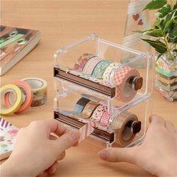 Alat Tulis Masking Tape Tape Cutter Penyimpanan Organizer Cutter Kantor Tape Dispenser Alat Kantor