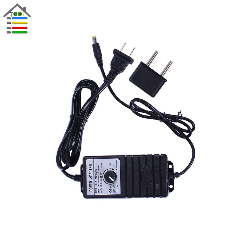 Adjustable DC 3-24V 2A Adapter Power Supply Motor Speed Controller with EU Plug For Electric Hand Drill