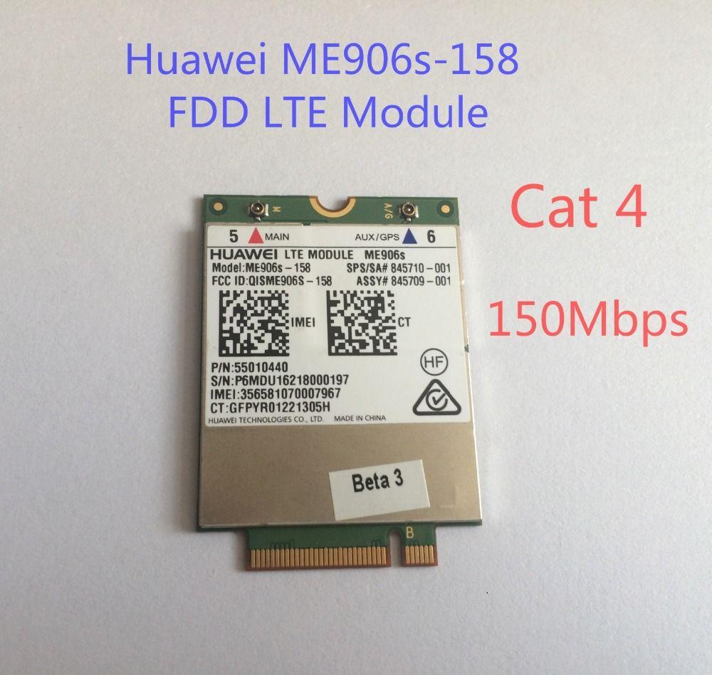 Unlocked HUA WEI ME906S ME906S-158 +2pcs 4G NGFF antenna NEW&Original M.2 Qual band FDD LTE 4G module