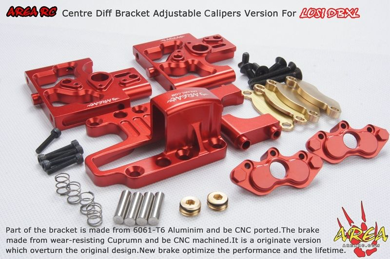 Area RC Centre Diff Bracket Adjustable Calipers Version For LOSI DBXL (KIT)