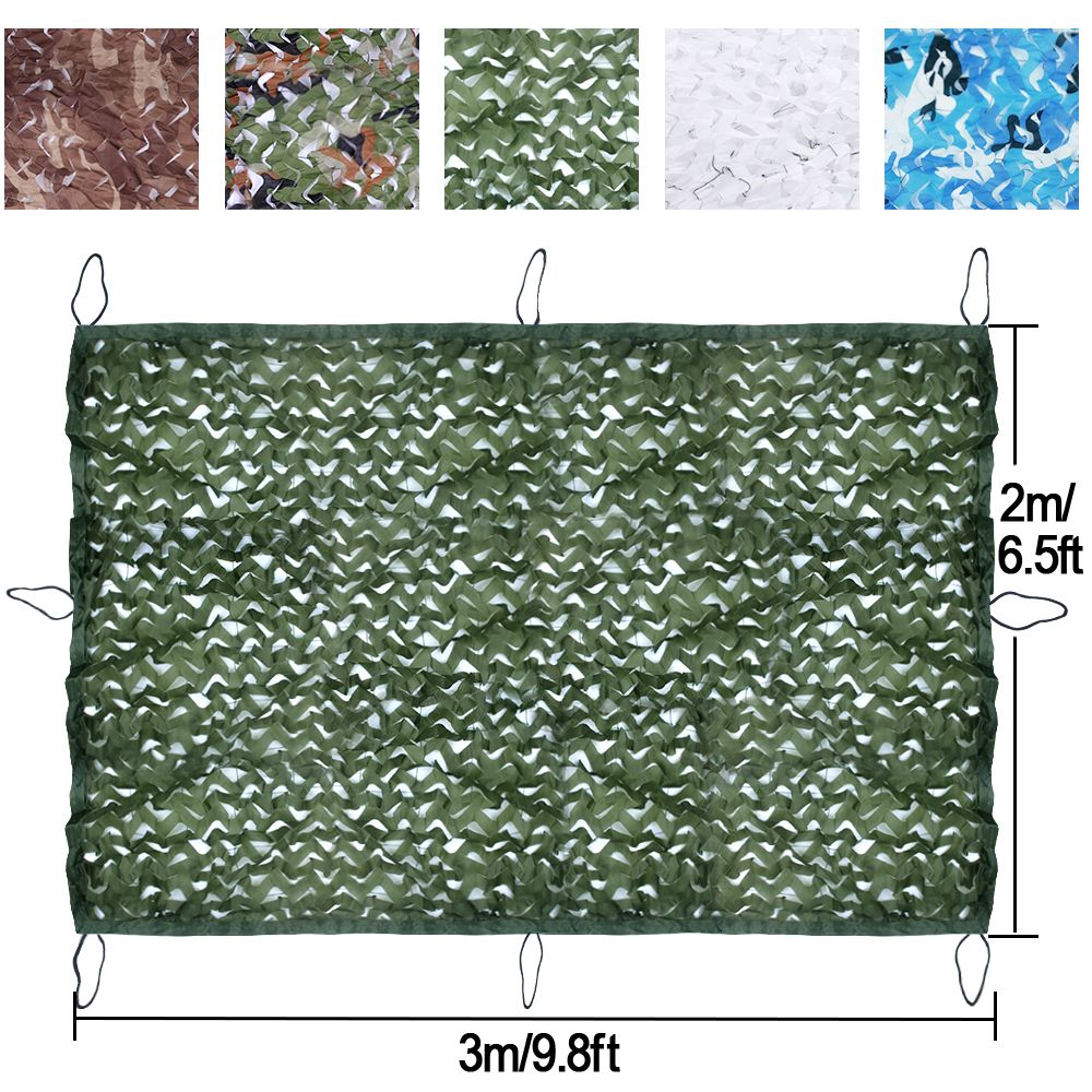 Military Camouflage Net  2M*3M Polyester Material+Nylon Strap Tarp Tent Car Drop Hidding Cover Exercise Camping Hunting Cover