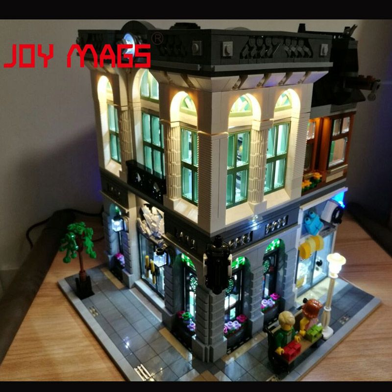 JOY MAGS Led Light Kit For Creators Modular City Series Bank Model House Toy Compatible With Lego 10251 15001 Excluding Model