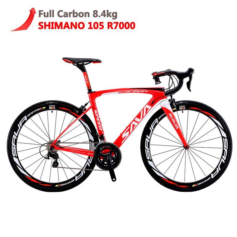 SAVA Carbon Road Bike 700C Road bike Carbon HERD6.0 Carbon bike Full Carbon Bicycle with Shimano 105 R7000 Racing Road Bike bici