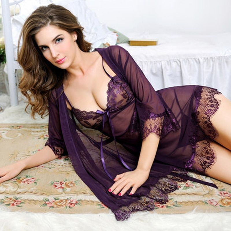 Newest Sexy Lingerie For Women Sexy underwear Ladies Lace Transparent Erotic Lingerie Conjoined Dress <font><b>Suit</b></font> Free Shipping