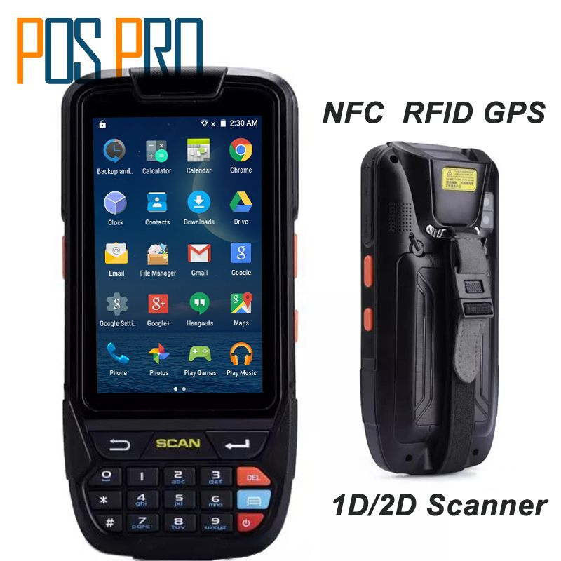 PDA 2D Handheld Terminal Support Wifi Bluetooth 4g GPS Camera Mini Barcode Scanner For Android Tablet Pc Keyboard NFC HF LF RFID