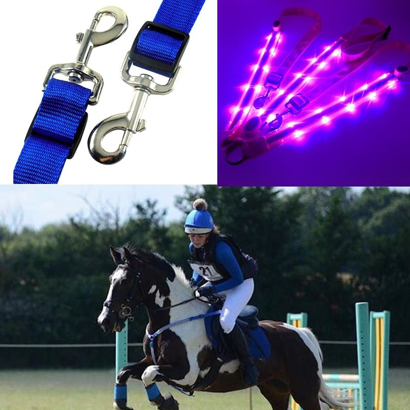 MOYLOR LED Horse Harness Breastplate Nylon Webbing Night Visible Horse Riding Equipment Paardensport Racing cheval equitation F