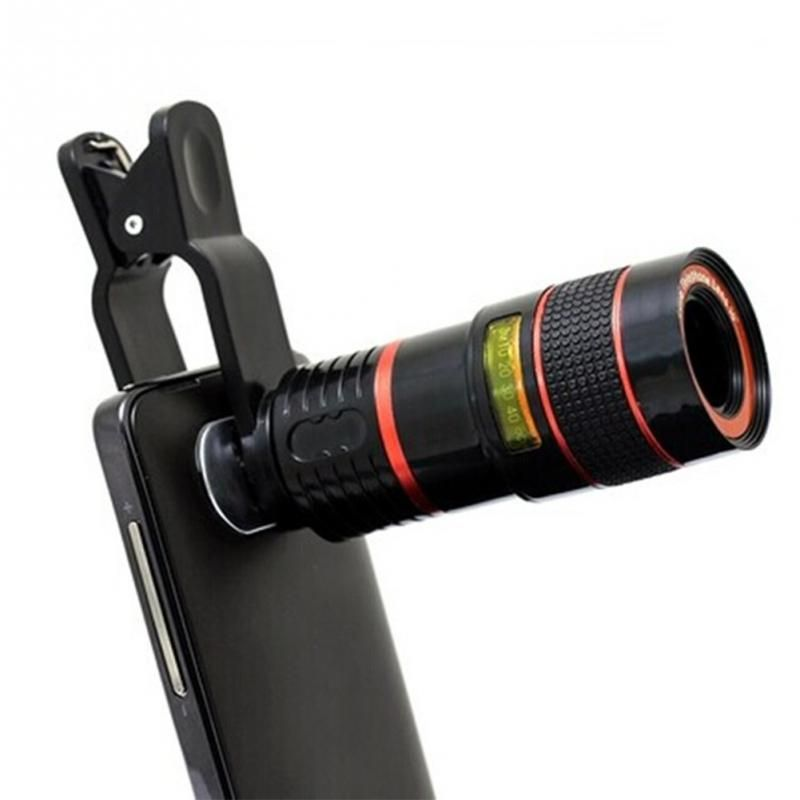 Universal Clip 8X 12X 20X Zoom Mobile Phone Telescope Lens Telephoto External Smartphone Camera Lens for iPhone Sumsung Huawei