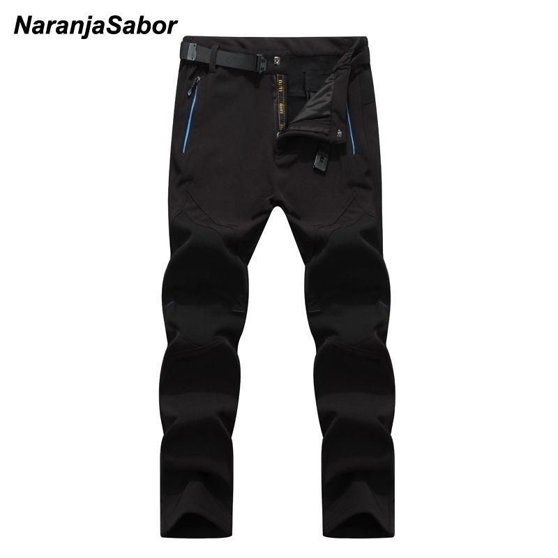 NaranjaSabor 5XL 2019 Men's Winter Pants Waterproof Jogger's Men's Thick Trousers Warm Inside Fleece Pants Men Male Casual Pants