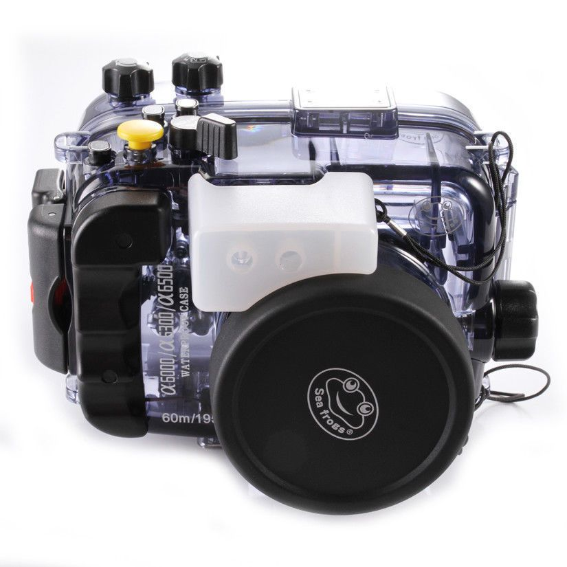 130ft 40M Waterproof Underwater Diving Housing Case Bag for Sony alpha A6000 A6300 A6500 ILCE-6000 Camera Accessories